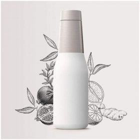 زجاجة ASOBU - Oasis Vacuum Insulated Double Walled Water Bottle 600 ml - أبيض