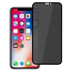 شاشة حماية ثلاثية الأبعاد من الزجاج الصلب لآيفون 6.5 - أسود