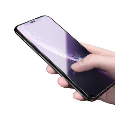 شاشة حماية مقاومة للأشعة الزرقاء من الزجاج الصلب لآيفون 6.1 - أسود