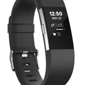 سوار المعصم الرياضي Charge 2 مع متتبع ضربات القلب من Fitbit - أسود (مقاس S)