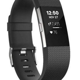 سوار المعصم الرياضي Charge 2 مع متتبع ضربات القلب من Fitbit - أسود (مقاس L)