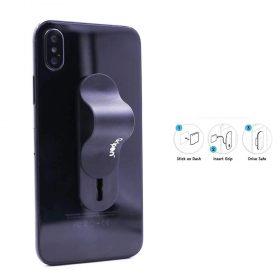 حزام الأصبع للهاتف المحمول مع قطعتي تركيب من Gripon - أسود غير لامع