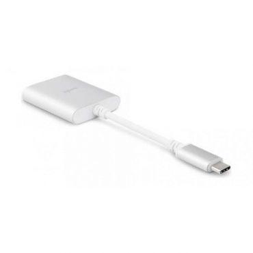 محول USB C إلى stereo jack 3.5 ملم من MOSHI - فضي