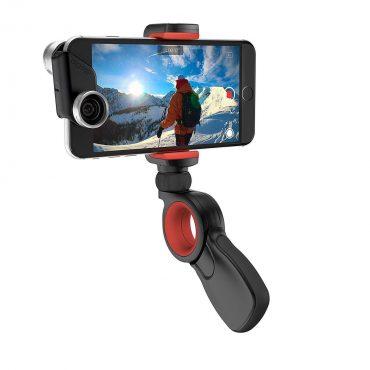 مقبض تصوير للهواتف المحمولة من OLLOCLIP - أسود/ أحمر