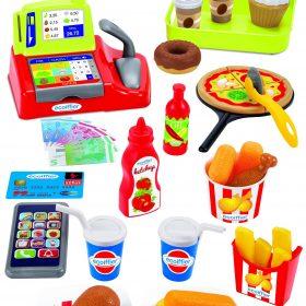 لعبة تسجيل النقود 100% CHEF - Cash Register + Snack Accessories