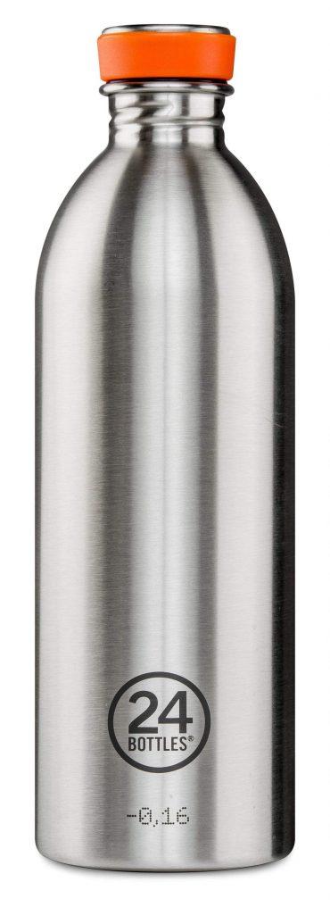 زجاجة مياه 1 لتر 24Bottles URBAN Bottle - فولاذي