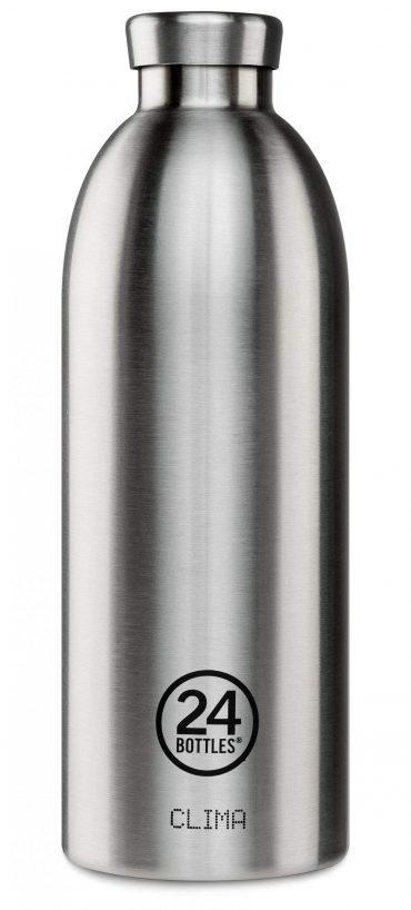 زجاجة مياه 850 مللي 24Bottles CLIMA Bottle - فولاذي