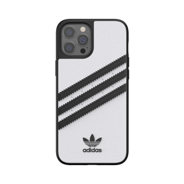 كفر آيفون 12 برو ماكس adidas SAMBA Apple iPhone Moulded Case - أبيض/ أسود