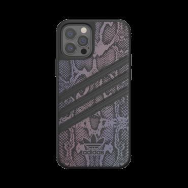 كفر آيفون 12/ 12 برو adidas SAMBA Apple iPhone Snake Print Moulded Case - أسود