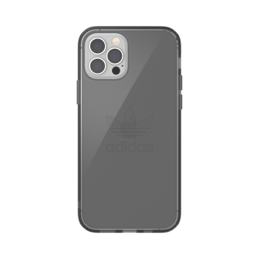 كفر شفاف آيفون 12/ 12 برو adidas ORIGINALS Apple iPhone Protective Clear Case - أسود دخاني