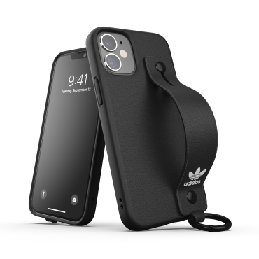كفر Adidas - ORIGINALS Apple iPhone 12 Mini HandStrap Case - أسود