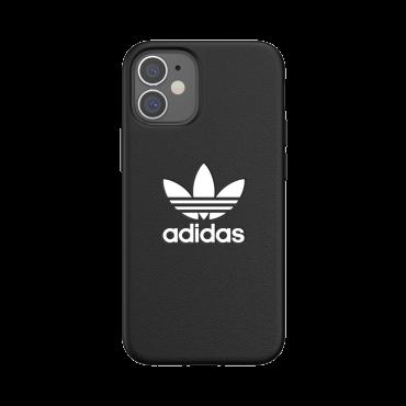 كفر Adidas - ORIGINALS Apple iPhone 12 Mini Basic Moulded Case - أسود  أبيض