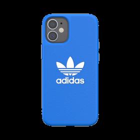 كفر Adidas - ORIGINALS Apple iPhone 12 Mini Basic Moulded Case - أزرق  أبيض