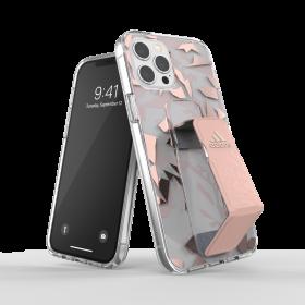 كفر مع حامل Adidas - SPORT Apple iPhone 12 Pro Max Clear Grip Case or Stand - زهري