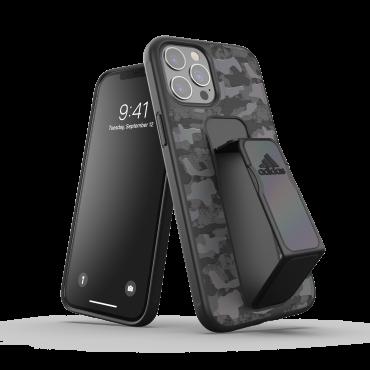 كفر مع حامل Adidas - SPORT Apple iPhone 12 Pro Max Camo Grip Case or Stand - أسود