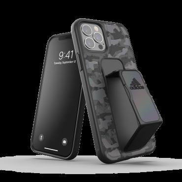 كفر مع حامل Adidas - SPORT Apple iPhone 12 Pro Camo Grip Case or Stand - أسود