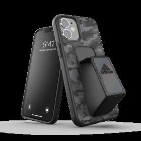 كفر مع حامل Adidas - SPORT Apple iPhone 12 Mini Camo Grip Case or Stand - أسود