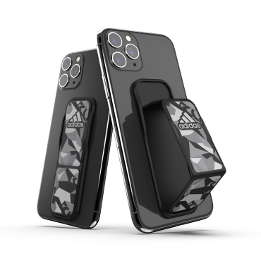 حامل وستاند Adidas - Originals Universal Grip Strap (S) Phone Holder-Stand - أسود  رمادي