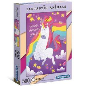 لعبة تطبيقات 500 قطعة CLEMENTONI - Animals Unicorn