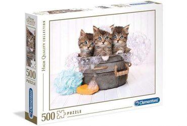 لعبة تطبيقات 500 قطعة CLEMENTONI - The Kittens And Soap