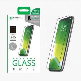 "شاشة حماية AMAZINGTHING - AT IPHONE XI 6.1"" 0.3M 2.5D SILK F.COV GLASS - أسود"