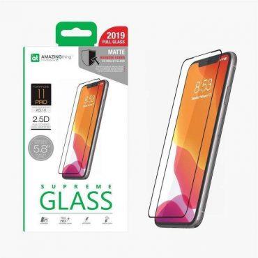 "شاشة حماية AMAZINGTHING - AT IPHONE XI 6.1"" 0.3M 2.5D MATTE GLASS - أسود"