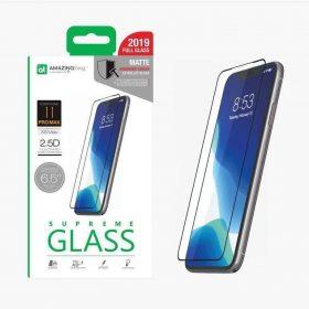 "شاشة حماية AMAZINGTHING - AT IPHONE XI 6.5"" 0.3M 2.5D MATTE GLASS - أسود"