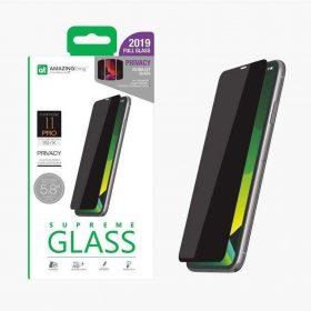 """شاشة حماية AMAZINGTHING - AT IPHONE XI 6.1"""" 0.3M 2.5D PRIVACY F.COV GLASS - أسود"""