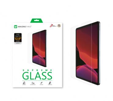 "شاشة حماية AMAZINGTHING - AT IPAD FACE ID 12.9"" 2020 2.5D SUPREME GLASS (CRYSTAL)"