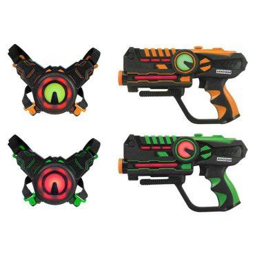 لعبة مسدس الليزر Armogear - Battle Toy - Set of 2 - برتقالي  أخضر