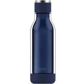زجاجة ماء مغلفة بالزجاج Asobu - Travel Water Bottle 17 Ounce - أزرق