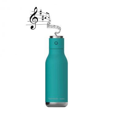 زجاجة ماء مع غطاء مكبر صوت Asobu - Wireless Stainless Steel Water Bottle with a Speaker Lid 17 Ounce - تركوازي