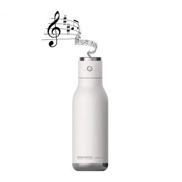 زجاجة ماء مع غطاء مكبر صوت Asobu - Wireless Stainless Steel Water Bottle with a Speaker Lid 17 Ounce - أبيض