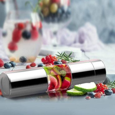 زجاجة ASOBU - Stainless Steel Fruit Infuser Slim and Classy Water Bottle 500 ml - فضي