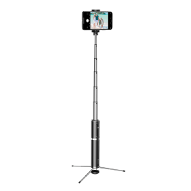 عصا سيلفي Baseus Fully Folding Selfie Stick باللون الأسود / الفضي