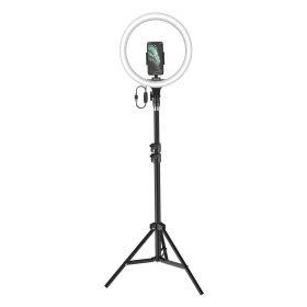 حلقة إضاءة 12 بوصة مع حامل ثلاثي Baseus Live Stream Holder-floor Stand (12-inch Light Ring) – أسود