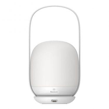 مصباح ليلي محمول Baseus Moon-White Series Stepless Dimming Portable Lamp Designed for Mothers and Children (Plus)– أبيض