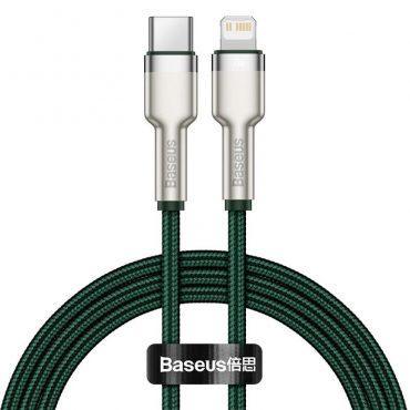 كابل Baseus Cafule Series Metal Data Cable Type-C to iP PD 20W 1m 1 متر - أخضر