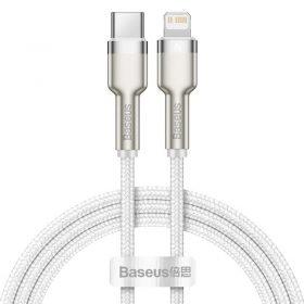 كابل Baseus Cafule Series Metal Data Cable Type-C to iP PD 20W 1m 1 متر - أبيض