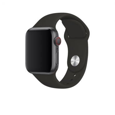 حزام ساعة BeHello - Apple Watch 38/40mm Silicone Strap - أسود