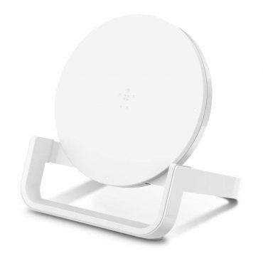 حامل الشحن اللاسلكي BELKIN - Wireless Charging Stand 10W - أبيض