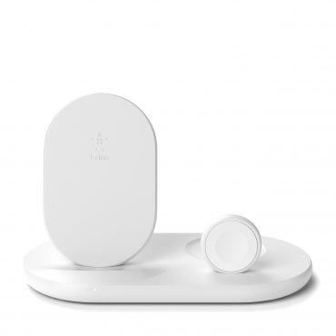 لوح شحن لاسلكي ثلاثي Belkin - Wireless Charging - 10W - أبيض