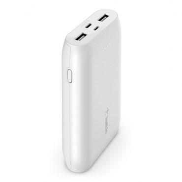 بور بانك Belkin - Powerbank 10K - Fast Charge 15W - أبيض