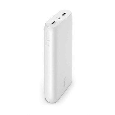 بور بانك Belkin - Powerbank 20K - Fast Charge 15W - أبيض