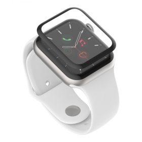 شاشة حماية لساعة آبل Belkin SCREENFORCE TrueClear Curve Screen Protector for Apple Watch Series SE/6/5/4   - 44ملم أسود