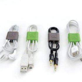 مشبك BLUELOUNGE - Cable Clip Small - أخضر / رمادي