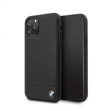 كفر جلدي مثقب لآيفون11 Pro  من BMW - أسود
