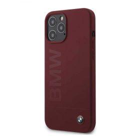 كفر BMW - Liquid Silicone Case Tone to Tone for iPhone 12 Pro - أحمر