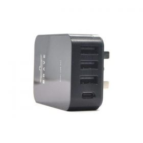 شاحن BRAVE 4 PORT SMART CHARGER +SMART USB