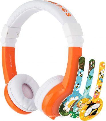 سماعات رأس قابلة للطي مع ميكروفون من BUDDYPHONES - برتقالي